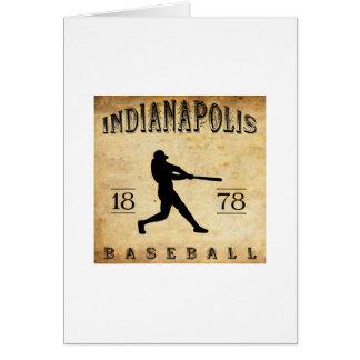 1878 Indianapolis Indiana Baseball Card