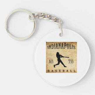 1878 Indianapolis Indiana Baseball Key Ring