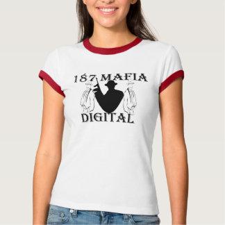 187 Mafia Digital  Ringer shirt for ladies