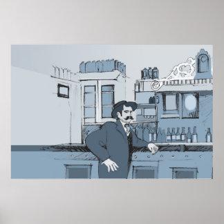 1880's Bar scene - left Poster