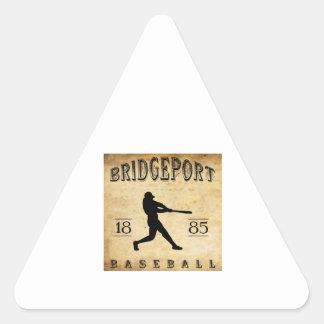 1885 Bridgeport Connecticut Baseball Triangle Sticker