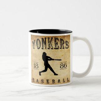 1886 Yonkers New York Baseball Two-Tone Coffee Mug