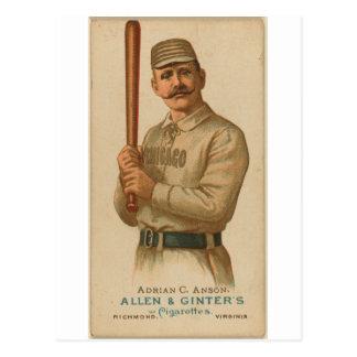 1887 Adrian C. Anson Postcard