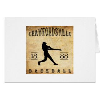 1888 Crawfordsville Indiana Baseball Card