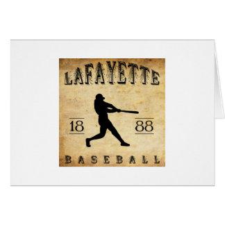 1888 Lafayette Indiana Baseball Card