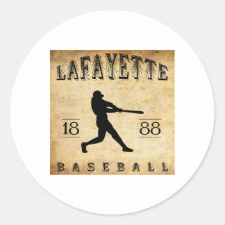 1888 Lafayette Indiana Baseball Classic Round Sticker
