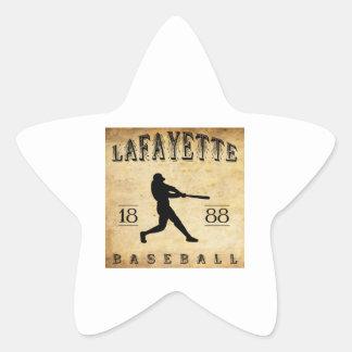 1888 Lafayette Indiana Baseball Star Sticker