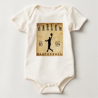 1894 Harlem New York Basketball Baby Bodysuit