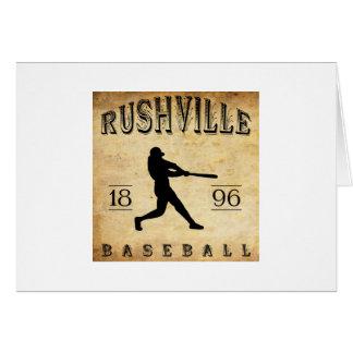 1896 Rushville Indiana Baseball Card