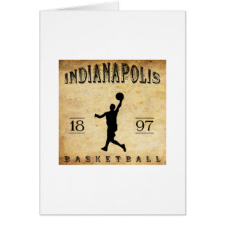 1897 Indianapolis Indiana Basketball Card