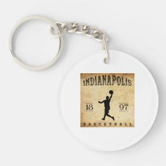1897 Indianapolis Indiana Basketball Key Ring