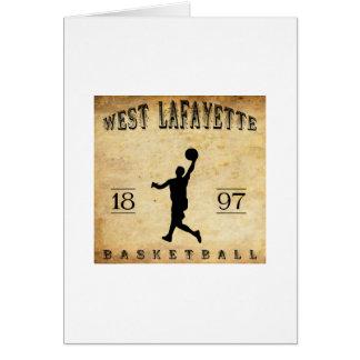 1897 West Lafayette Indiana Basketball Card