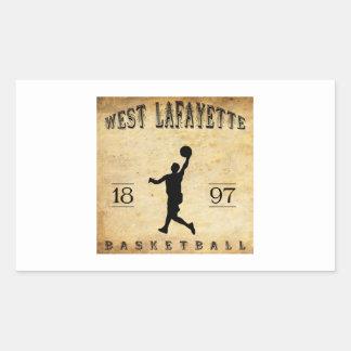 1897 West Lafayette Indiana Basketball Rectangular Sticker