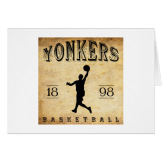 1898 Yonkers New York Basketball Card