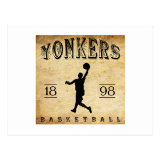 1898 Yonkers New York Basketball Postcard