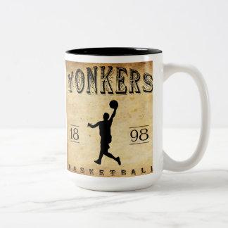 1898 Yonkers New York Basketball Two-Tone Coffee Mug