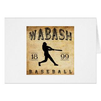 1899 Wabash Indiana Baseball Card