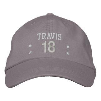 18 Birthday Custom Name WHITE GRAY Embroidery V55 Baseball Cap