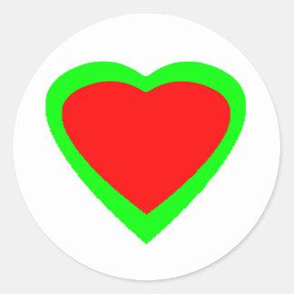 18 Color Hearts You Choose U Design Round Stickers
