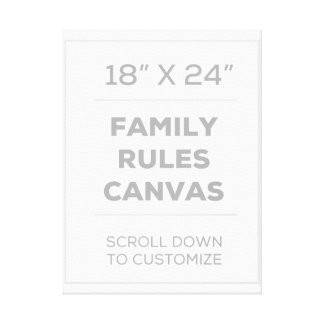 """18"""" x 24"""" Family Rules Canvas"""