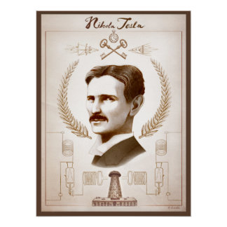 18 x 24 inch Tesla Poster