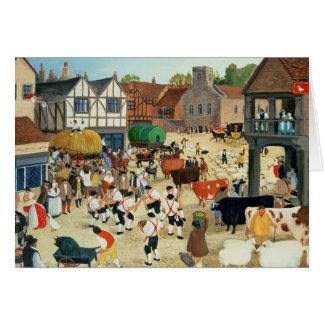 18th century Mayfair cattle market Card