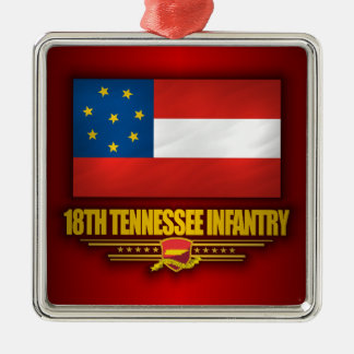 18th Tennessee Infantry Silver-Colored Square Decoration