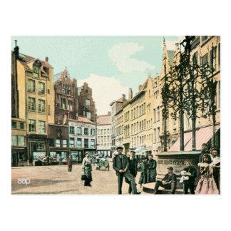 1900s Antwerp Belgium city centre restored Postcard