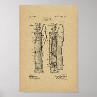 1905 Vintage Golf Caddy Bag Patent Art Print
