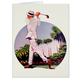 1918 Vintage Golf - Big Greeting Card