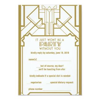 1920's Gatsby RSVP 9 Cm X 13 Cm Invitation Card