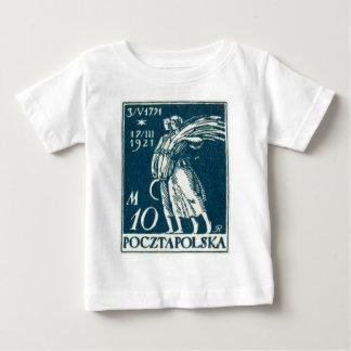 1921 10m Polish Postage Stamp Baby T-Shirt
