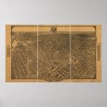 1922 Washington DC Birds Eye View Panoramic Map Print