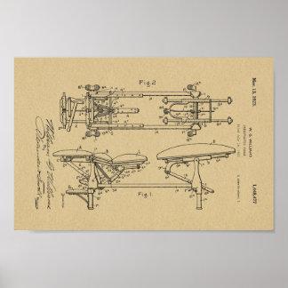 1923 Vintage Chiropractic Table Patent Art Print