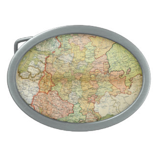 1928 Map of Old Soviet Union USSR Russia Oval Belt Buckles