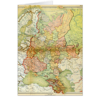 1928 Map of Old Soviet Union USSR Russia Greeting Card