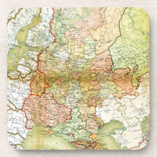 1928 Map of Old Soviet Union USSR Russia Coaster