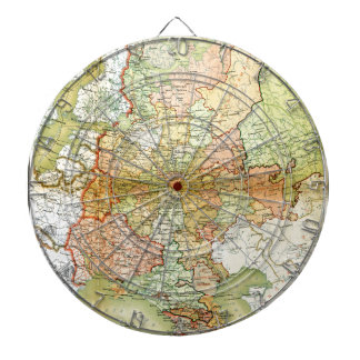1928 Map of Old Soviet Union USSR Russia Dartboards