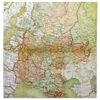 1928 Map of Old Soviet Union USSR Russia Printed Napkin
