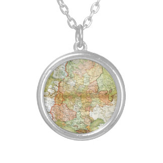 1928 Map of Old Soviet Union USSR Russia Pendant