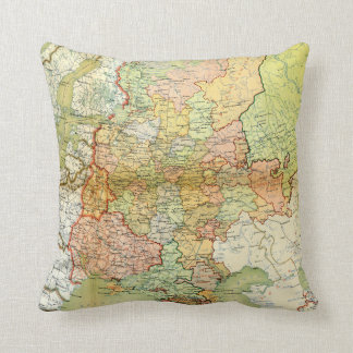 1928 Map of Old Soviet Union USSR Russia Pillows