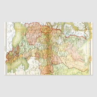 1928 Map of Old Soviet Union USSR Russia Rectangular Sticker