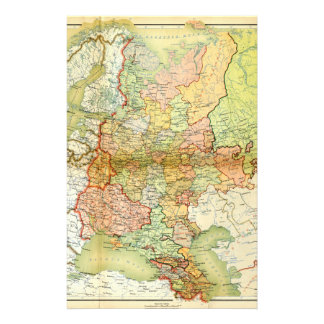 1928 Map of Old Soviet Union USSR Russia Stationery Paper