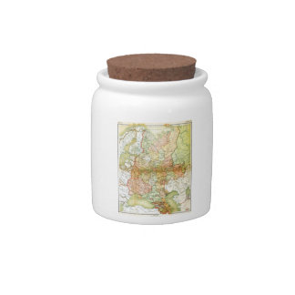 1928 Map of Old Soviet Union USSR Russia Candy Jars