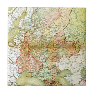 1928 Map of Old Soviet Union USSR Russia Ceramic Tile
