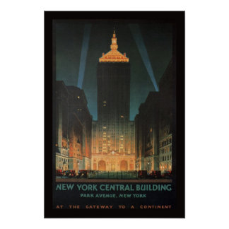 1929 New York Central Building Poster