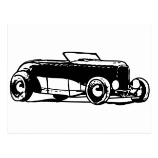 1930s Hotrod Postcard