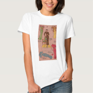 1930s paper doll beautiful dresses tee shirts