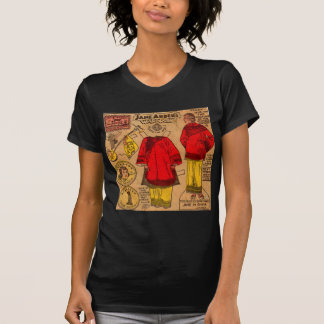 1930s paper doll Chinese clothes Tees