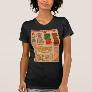 1930s paper doll seven outfits T-Shirt